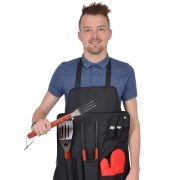 Barbecue set met schort