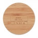 Draadloze oplader bamboe rond, Draadloze oplader bamboe rond hout