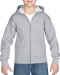 Gildan Sweater Hood Full Zip for kids, Gildan Sweater Hood Full Zip for kids sport grey
