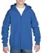 Gildan Sweater Hood Full Zip for kids, Gildan Sweater Hood Full Zip for kids royal blue
