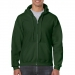Gildan hooded zip sweater, Gildan hooded zip sweater forest green