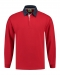 Rugby Shirt Solid, Rugby Shirt Solid Red