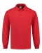 Sweatshirt Polo Open Hem, Sweatshirt Polo Open Hem Red