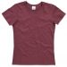T-shirt Classic Woman, T-shirt Classic Woman burgundy red