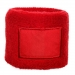 Zweetband met label, Zweetband met label rood