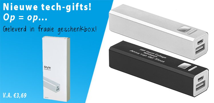 Powerbank in fraaie giftbox